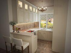 Кухня в загородном доме 6 кв.м. - Дизайн интерьеров | Идеи вашего дома | Lodgers