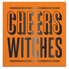 Cheers Witches Foil Beverage Napkins