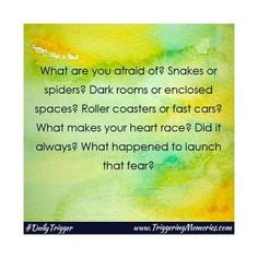 Today's #InspiringMoment all about #fears #getwriting!