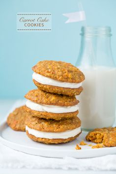 Carrot Cake Cookies (with Cream Cheese Frosting) - these taste just like carrot cake. » Might have to give these a go this weekend!