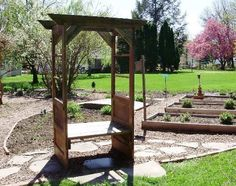 Deb Brazuk was inspired also and built her door arbor Old Door Projects, Diy Home Decor Projects, Garden Projects, Garden Ideas, Door Arbor, Secret Garden Door, Flea Market Gardening, Garden Arches, Garden Arbor