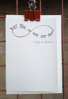Infinite love ever thine ever mine ever ours by Calligraphette, £2.95