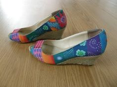 Zapatos decorados con pintura textil - YouTube
