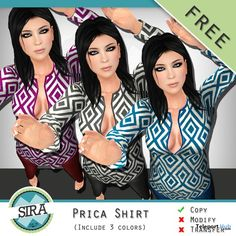 Prica Shirt 3 Colors Gift by SIRA