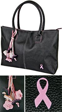 I totally need this purse! Pink Ribbon Bouquet Executive Bag at The Breast Cancer Site