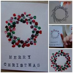 This One Is A Better Option   DIY Christmas Card Holder Wreath! | Domonique  | Pinterest | Christmas Card Holders, DIY Christmas And Wreaths