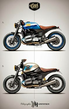 Cafè Racer Concepts - Bmw R 1100 R by Holographic Hammer