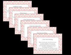 Bridal Shower Wine Basket Poem Tag PRINTABLE- Pink Damask via Etsy