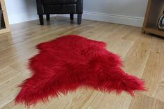 To make your furnishing completeb don't forget to use this thick modern bright red faux fur of Sheep skin with the dimension having 60 x 90cm
