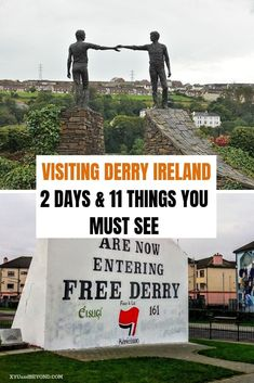 """Things to do in Derry We absolutely loved Derry a brilliant walkable city with great pubs cafes and so much history from Elizabethan to the """"troubles"""". babies flight hotel restaurant destinations ideas tips Ireland Travel Guide, Europe Travel Guide, Travel Guides, Travel Destinations, Derry Ireland, Galway Ireland, Walkable City, Stuff To Do, Things To Do"""