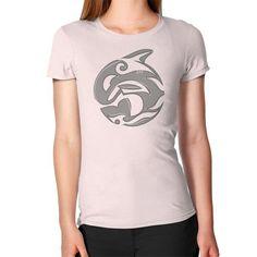 Diving Killer Whale Tattoo in Grey Women's T-Shirt