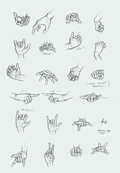 учимся рисовать... жесты