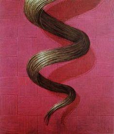 """Domenico Gnoli, """"THE curl"""" 1969 Gnoli Domenico was born in Rome, May 3, 1933 died - age 37 -  April 17 , 1970."""