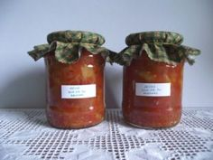 Eltehetsz lecsót készre főzve Salsa, Jar, Food, Red Peppers, Essen, Salsa Music, Meals, Yemek, Jars