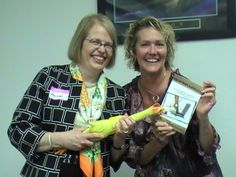 Hannah Kain is the author of our first scrappy businesswomen's story. Here we are celebrating with Kimberly Wiefling and her rubber chicken.