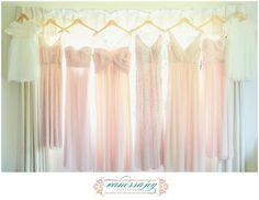 Blush Champagne Bridesmaids Dresses on the blog at this NY Vanderbilt Mansion Wedding