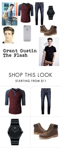 """""""Grant Gustin, hottest man!!!"""" by doort-kway ❤ liked on Polyvore featuring Jack & Jones, Movado, Native Union, men's fashion and menswear"""