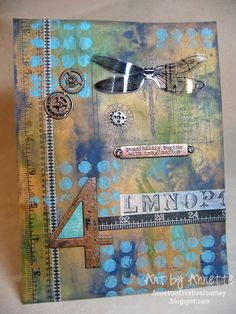 Annette's Creative Journey: April Journal Page - 12 Tags of 2013