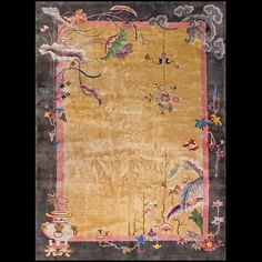 Stock Id: #20446 General Rug Type: Chinese Specific Rug Type: Chinese - Art Deco Circa: 1920 Color: Camel Origin: China Width: 9' 10'' ( 299.7 cm ) Length: 13' 8'' ( 416.6 cm )
