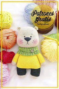 Amigurumi Toys, Crochet Patterns Amigurumi, Crochet Toys, Free Crochet, Handmade Wooden Toys, Handmade Gifts, Free Pattern, Bear Toy, Knitting