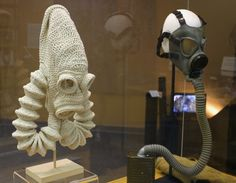 Crocheted Gas Mask by Erica Duffy-Voss http://wcfcourier.com/lifestyles/object-as-art-gas-mask/image_7c9cf9cc-c268-11df-9174-001cc4c002e0.html