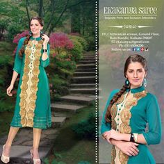 Magnificent, Sophisticated and Indian - Ekakanya collection of awe-inspiring ethnic and fusion wear renders you a distinct flavor of fashion garnished with an ethnic touch.!#EthnicWear #Saree #DesignerLook #Elegance #EkakanyaSarees