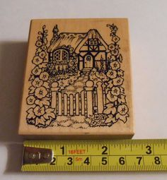 PSX G 1222 Thatched Roof English Cottage rubber stamp super rare only 1 on ebay #PSX #D1222