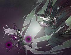 Syndra vs Karthus League Of Legends Fan Art