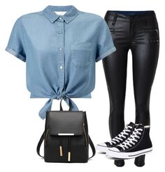 """""""Street smart"""" by ninjabharucha on Polyvore featuring Miss Selfridge, Converse and outfit"""