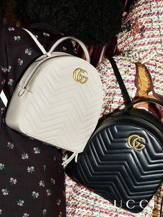 GG Marmont quilted leather backpacks from the Gucci Pre-Fall 2017 collection by Alessandro Michele. GG Marmont quilted leather backpacks from the Gucci Pre-Fall 2017 collection by Alessandro Michele. Fall Handbags, Prada Handbags, Purses And Handbags, Leather Handbags, Gucci Purses, Straw Handbags, Gucci Gucci, Cheap Handbags, Gucci Fashion