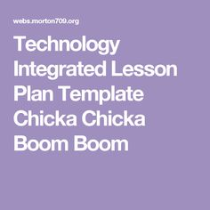 What Is Successful Technology Integration Technology - Technology integration lesson plan template