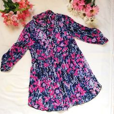 Pink printed three quarters Collar tOP shirt Style & co. Floral print top. New but I removed the tag.                                                                    💕 Don't accepts offers under $10. Bundle up and offer me 😊. 💕 Will give huge discounts on huge amounts.  💕 Alway consider reasonable offers.  💕 Comment below if you have questions.  💕 Interested in seen video of the item then comment below.  Checkout my profile for bags, shoes, pants, dresses, tops, coat, skirts…
