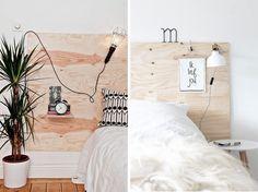 Efter att ha gjort en stoppad sänggavel själv (alla instruktioner här) så vet jag ju att en sänggavelär möjlig att
