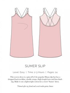 Sumer Slip Flat - Spit up and stilettos, kostenloses Schnittmuster (Free sewing pattern)