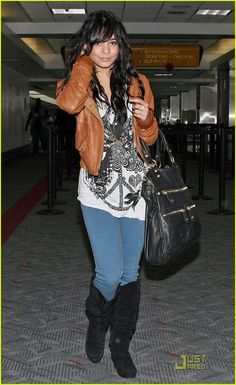 short leather jacket + long tee + skinnies