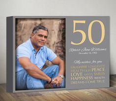 50th Birthday Gift for Men Women Birthday Gift with by MummyPic