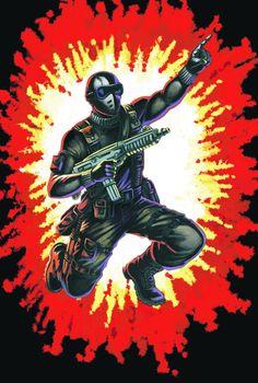 Storm Shadow ver 2 3D Art classées série Gi Joe Figure Pop Art Cobra
