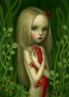 By Nicoletta Ceccoli. Just bought this at AFA Gallery in Las Vegas. She is an amazing artist. I want more of her work.