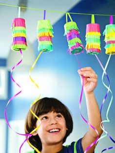 Pull open piñatas- Make these individual-size treat holders for Cinco de Mayo or as an alternative to favor bags for your next party.