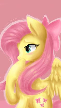 Whoops! #Fluttershy #Blush   Made by: Alexis Olohan