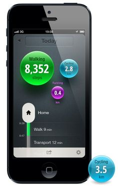Moves, you install the app and it keeps track of how much you move.
