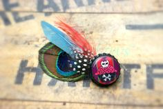 Toxic cupcake peacock goose guinea by AdoraBowsByLeilaHale on Etsy, $8.50