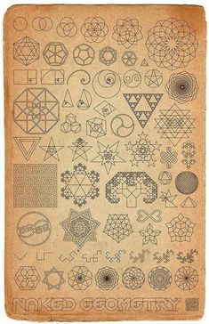 Sacred geometry. Ideas for patterns on my geometry notebook?
