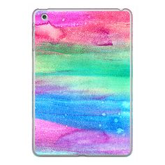iPhone 6 Plus/6/5/5s/5c Case - Neon Rainbow Abstract Watercolor... ($40) ❤ liked on Polyvore featuring accessories, tech accessories, iphone case, iphone cover case, neon iphone case, apple iphone cases and rainbow iphone case