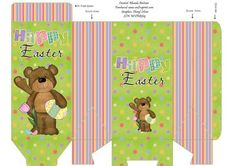 Benny Happy Easter Treat Bag on Craftsuprint designed by Rhonda Brittain - A cute treat bag ready to be filled with goodies. A quick and easy gift for someone at Easter. - Now available for download!