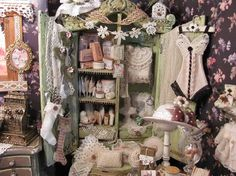 Dollhouse miniature. Doll house clothes and accessories.