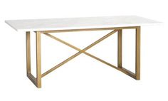 Dining Table with Carrara and Gold