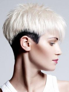 50 Top Short Hairstyles for Women Undercut Pixie, Undercut Hairstyles, Funky Hairstyles, Short Hairstyles For Women, Shaved Hairstyles, Pixie Haircuts, Short Hair Cuts, Short Hair Styles, Pixie Cuts