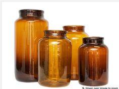 Brown Glass Jars