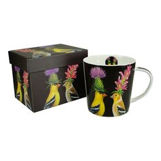 Goldfinch Couple Gift Boxed Porcelain Mug
